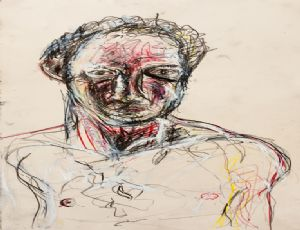 Untitled, 2011, mixed media on paper, 71.5X38 cm
