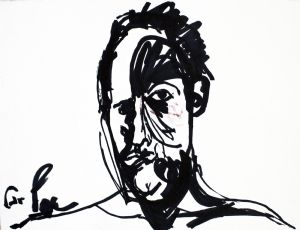 Untitled, 2011, Marker Pen on paper, 40.5X50 cm